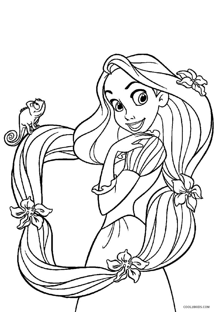 21+ Marvelous Picture of Rapunzel Coloring Pages