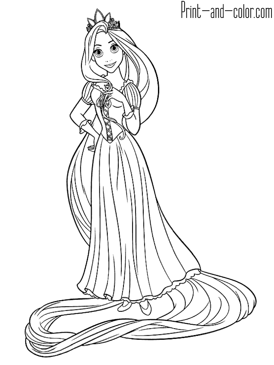 21+ Pretty Image of Rapunzel Coloring Pages ...