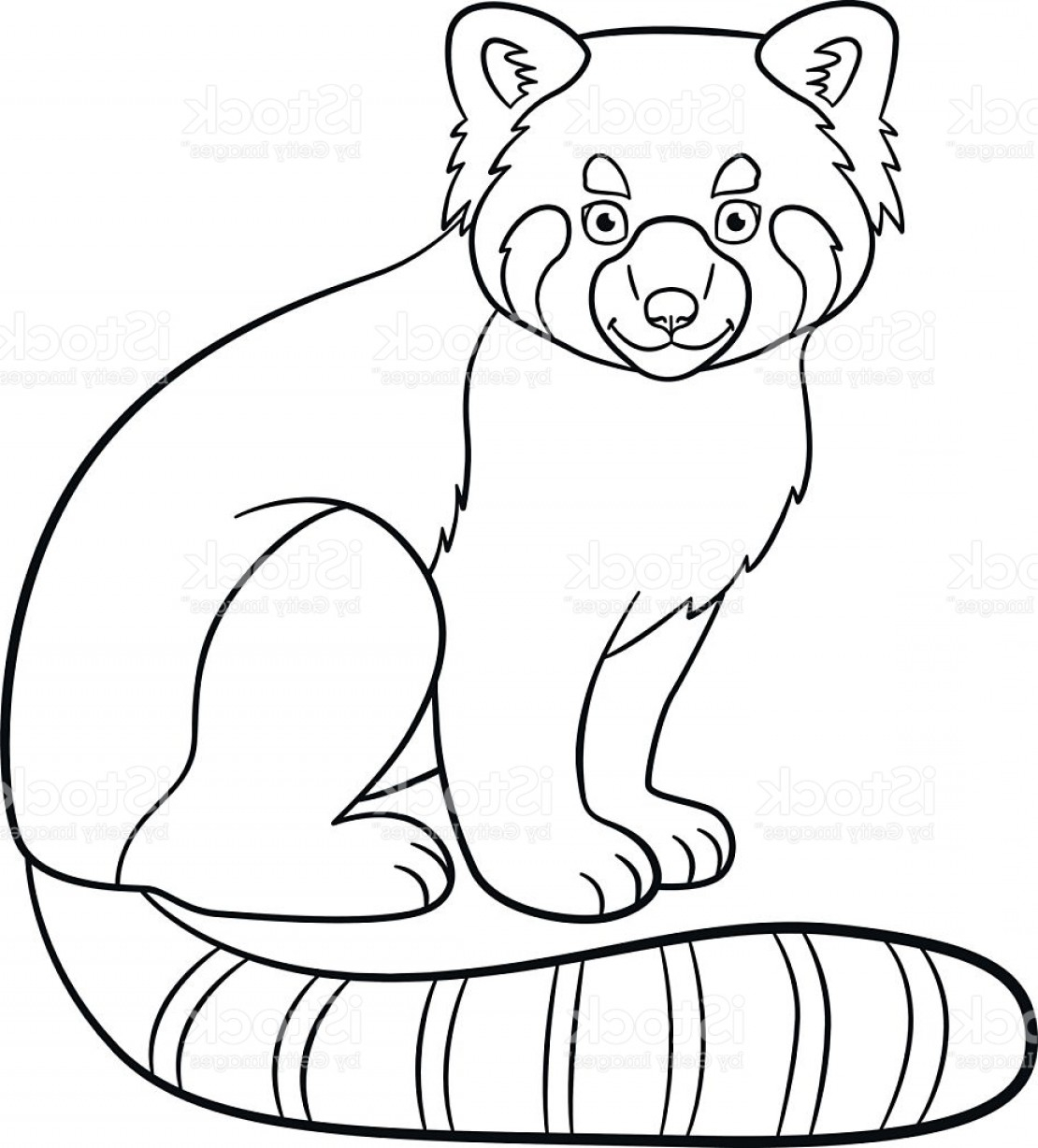 Red Panda Coloring Page Best Of Coloring Pages Little Cute Red Panda Smiles Stock Vector Art