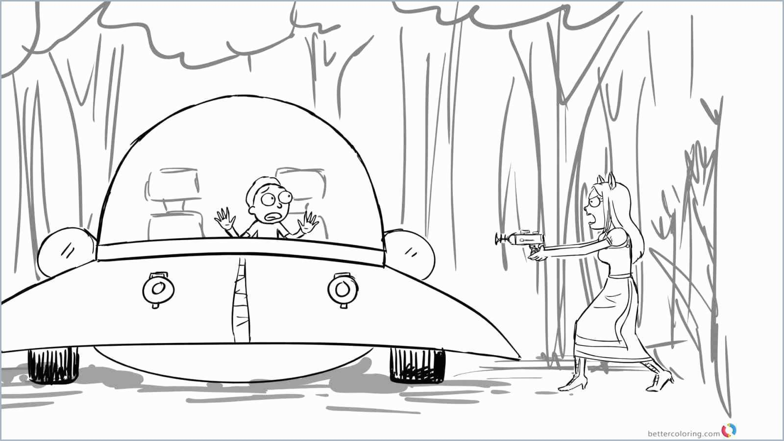 Rick And Morty Coloring Pages Rick And Morty Coloring Book Inspirational Rick And Morty Coloring