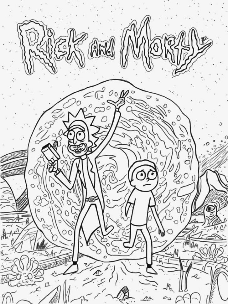 Rick And Morty Coloring Pages Rick And Morty Coloring Pages Best Coloring Pages For Kids