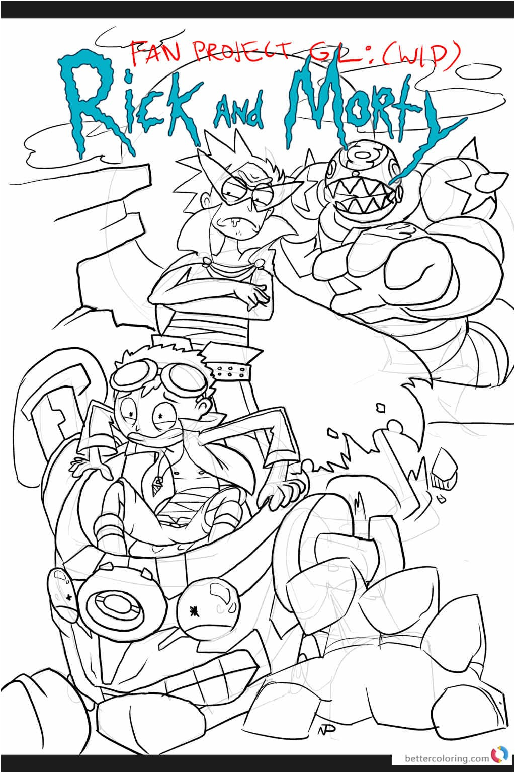 Rick And Morty Coloring Pages Rick And Morty Coloring Pages Cool Coloring Pages