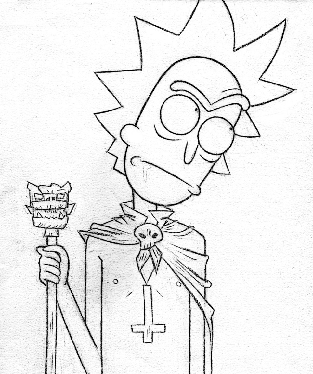 Rick And Morty Coloring Pages Rick And Morty Coloring Pages Educative Printable