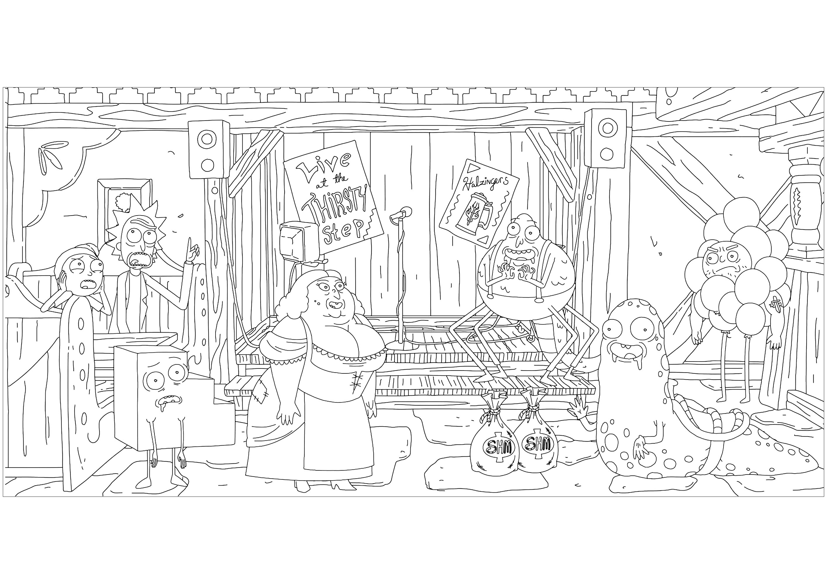 Rick And Morty Coloring Pages Rick And Morty Coloring Pages For Adults