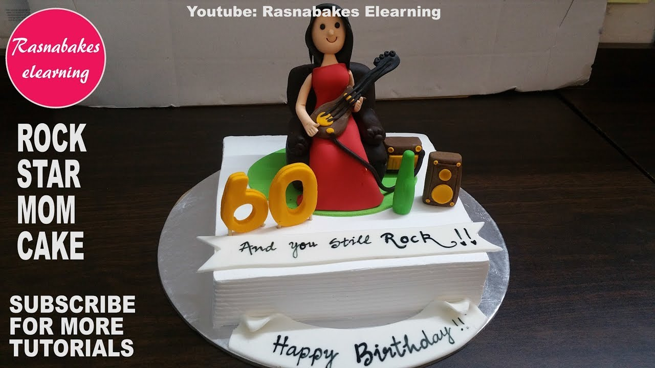 Rock Star Birthday Cake How To Make Rock Star Mom Birthday Cake Designhomemade Bakery Cake