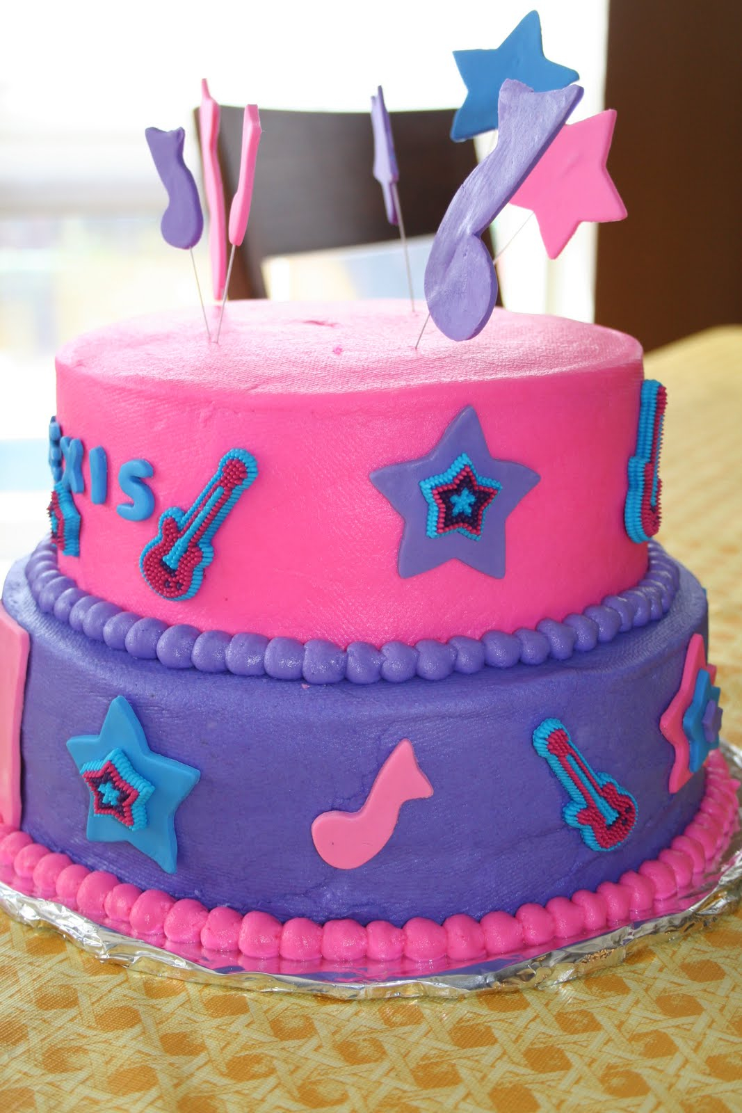 Rock Star Birthday Cake Rachels Creative Cakes My Daughters Rock Star Birthday Cake