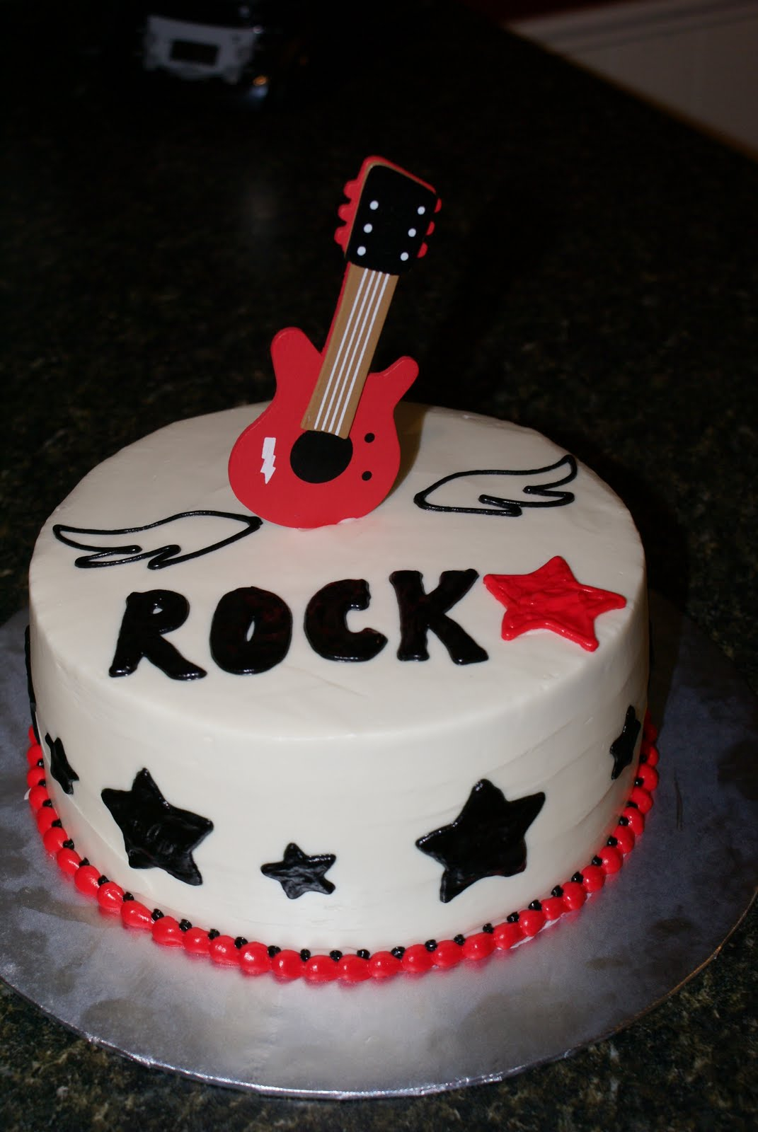 Rock Star Birthday Cake Rock Birthday Cakes