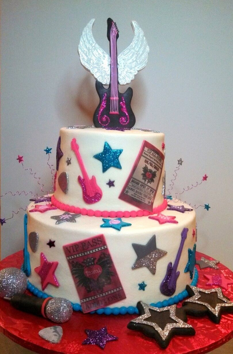 Rock Star Birthday Cake Rock Star Birthday Cake Rock Star Themed Cake With Butter Cream