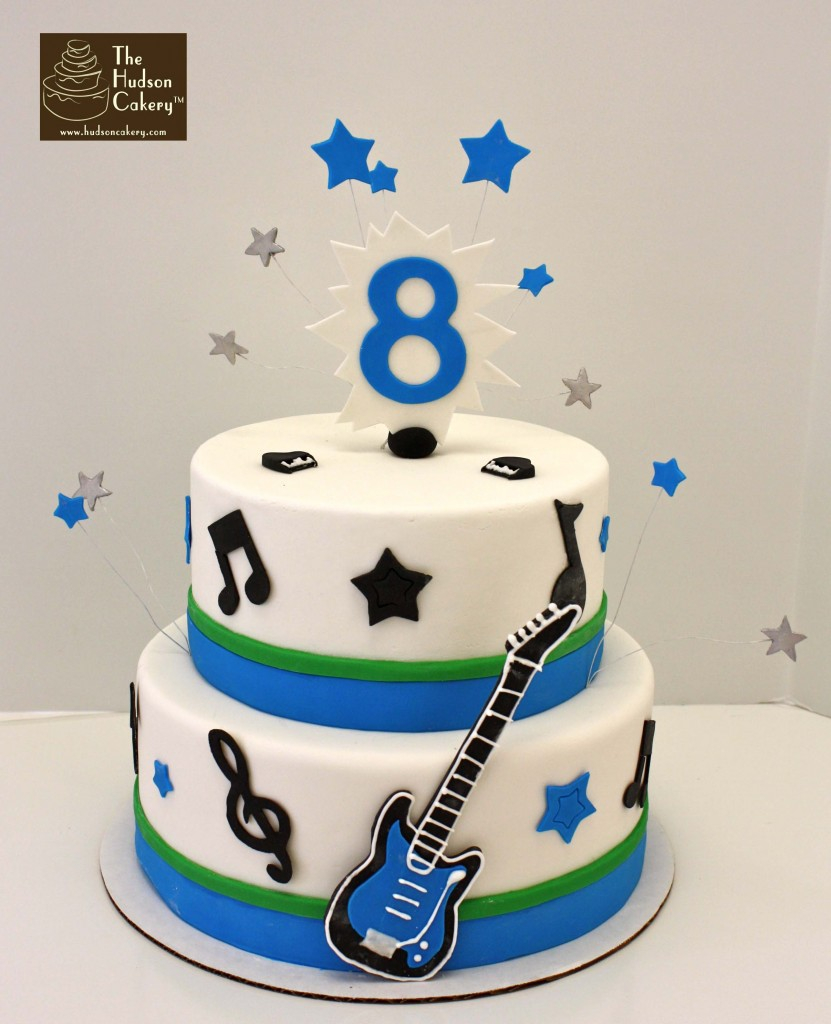 Rock Star Birthday Cake Rockstar Guitar Cake Birthday The Hudson Cakery