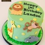 Safari Birthday Cake Safari 1st Birthday Cake Topper Birthday The Hudson Cakery