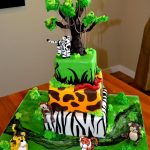 Safari Birthday Cake Safari Birthday Cakes