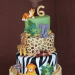 Safari Birthday Cake Safari Themed Jungle Birthday Cake Cakecentral