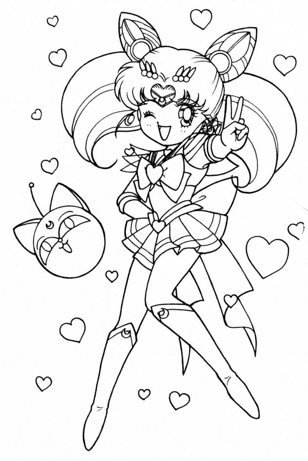Sailor Moon Coloring Pages Coloring Pages Sailor Moon Coloring Pages The Doll Palace
