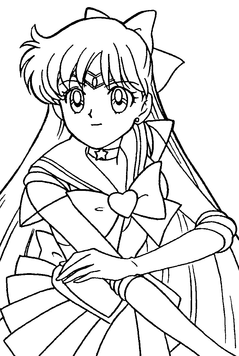Sailor Moon Coloring Pages Printable Sailor Moon Coloring Pages Coloringme
