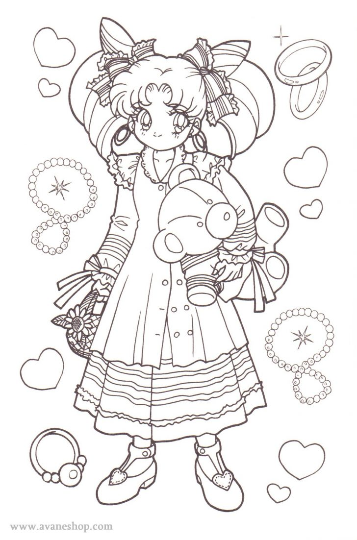 Sailor Moon Coloring Pages Sailor Moon Coloring Pages Avaneshop Avane Vintage Toys Games
