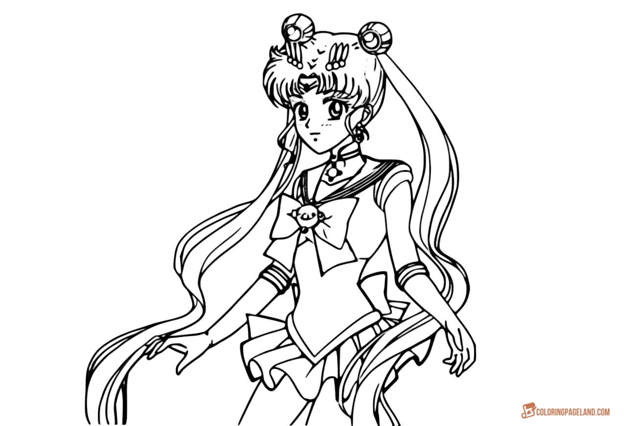 Sailor Moon Coloring Pages Sailor Moon Coloring Sheets Print Or Download For Free