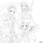 Sailor Moon Coloring Pages Steampunk Sailor Moon Coloring Page Free Printable Coloring Pages
