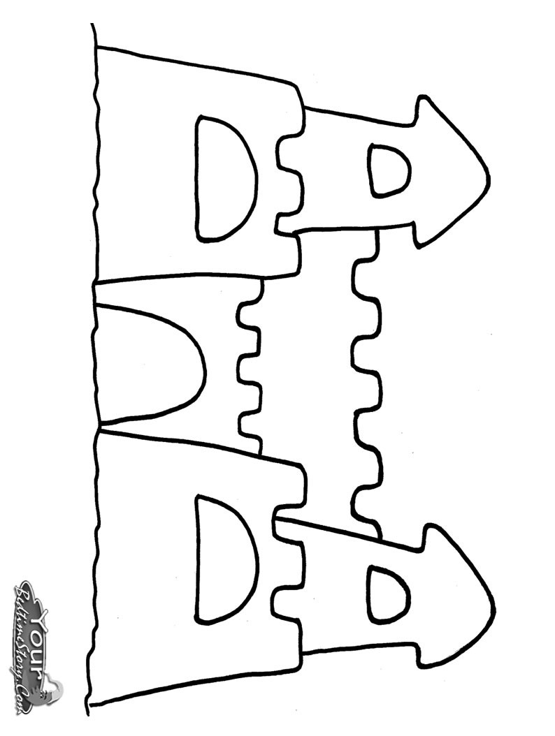 Marvelous Image of Sand Castle Coloring Page