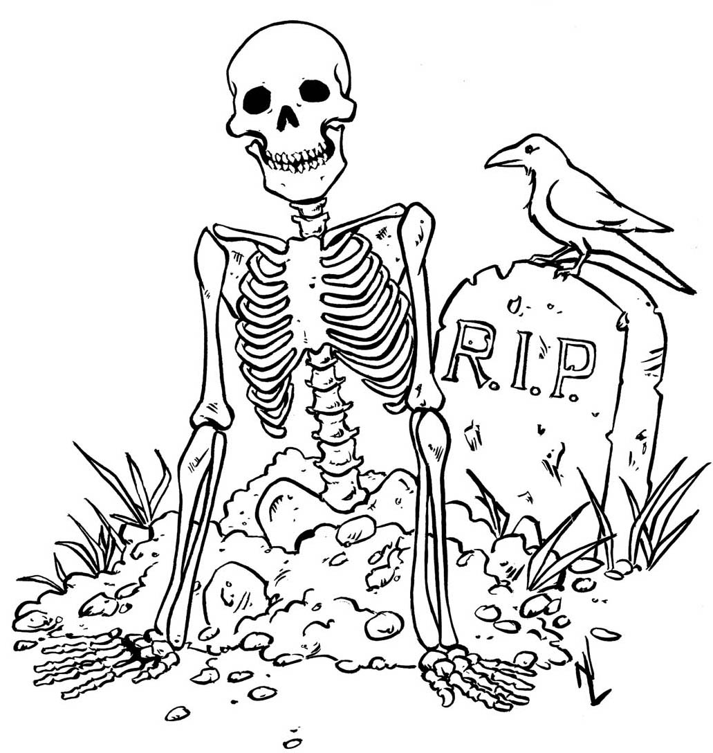 Inspiration Image of Scary Halloween Coloring Pages