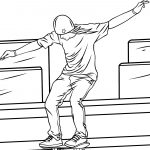 Skateboard Coloring Page Man Riding A Skateboard Coloring Page Free Printable Coloring Pages