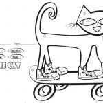 Skateboard Coloring Page Pete The Cat Coloring Pages Color Number Skateboard Free
