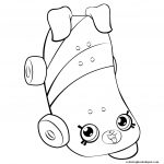 Skateboard Coloring Page Skateboard Coloring Page For Girls Petkins Shopkins