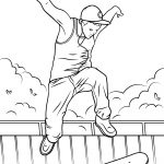 Skateboard Coloring Page Skateboard Jump Coloring Page Free Printable Coloring Pages