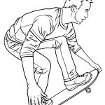 Skateboard Coloring Page Skateboarding Coloring Page Free Printable Coloring Pages