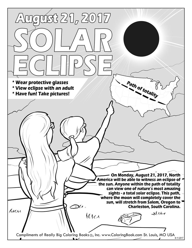 21+ Elegant Picture of Solar Eclipse Coloring Page