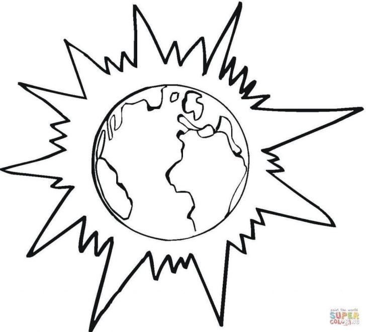 Solar Eclipse Coloring Page Eclipse Coloring Sheet Watsica