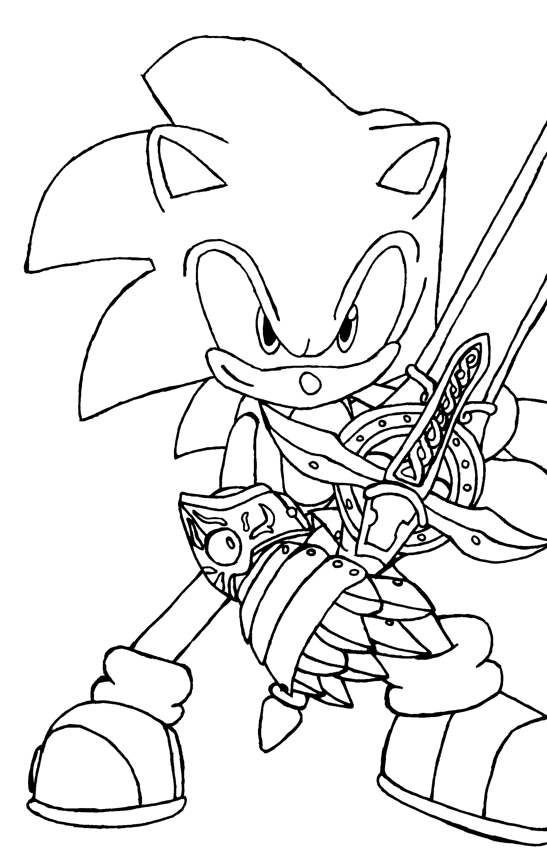 Sonic Coloring Page Free Printable Sonic The Hedgehog Coloring Pages For Kids