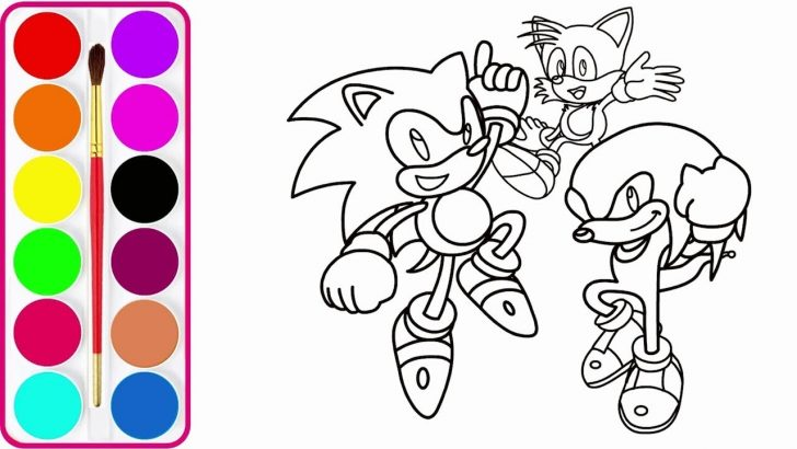 Sonic Coloring Page Maxresdefault 11 Sonic Tails Coloring Pages Lrcp Coloring Page
