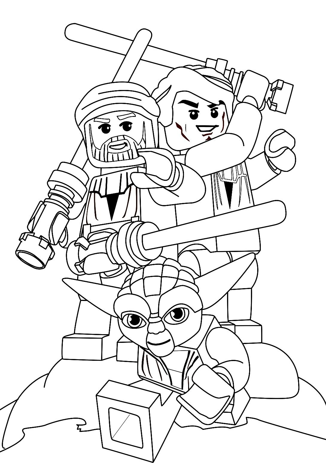 Star Wars Color Pages Lego Star Wars Coloring Pages Luke