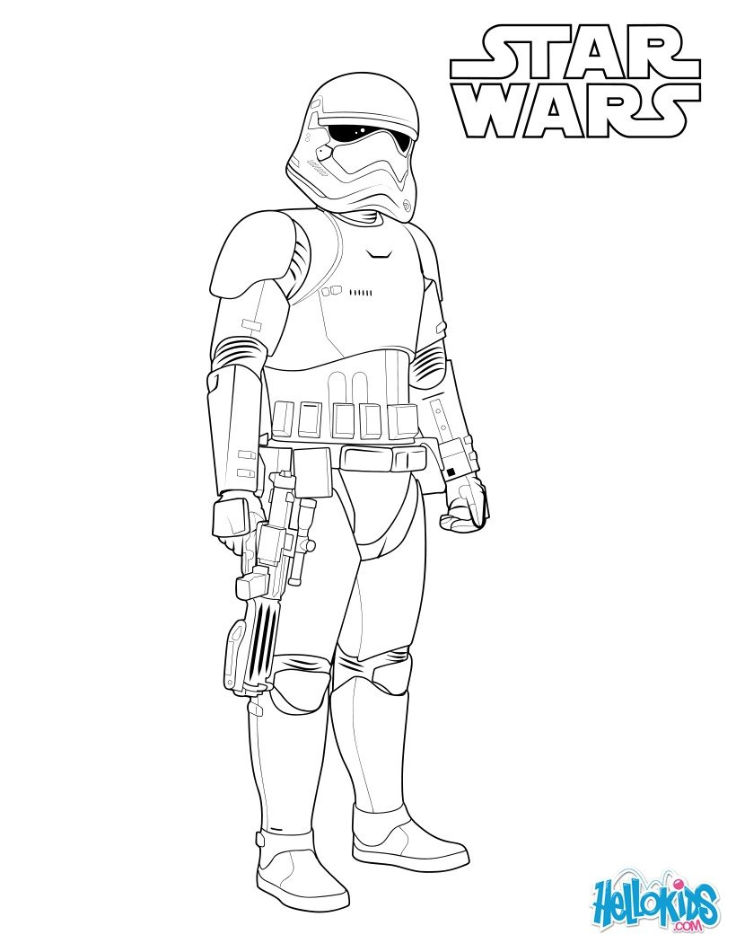 Stormtrooper Coloring Page First Order Stormtrooper Coloring Pages Hellokids