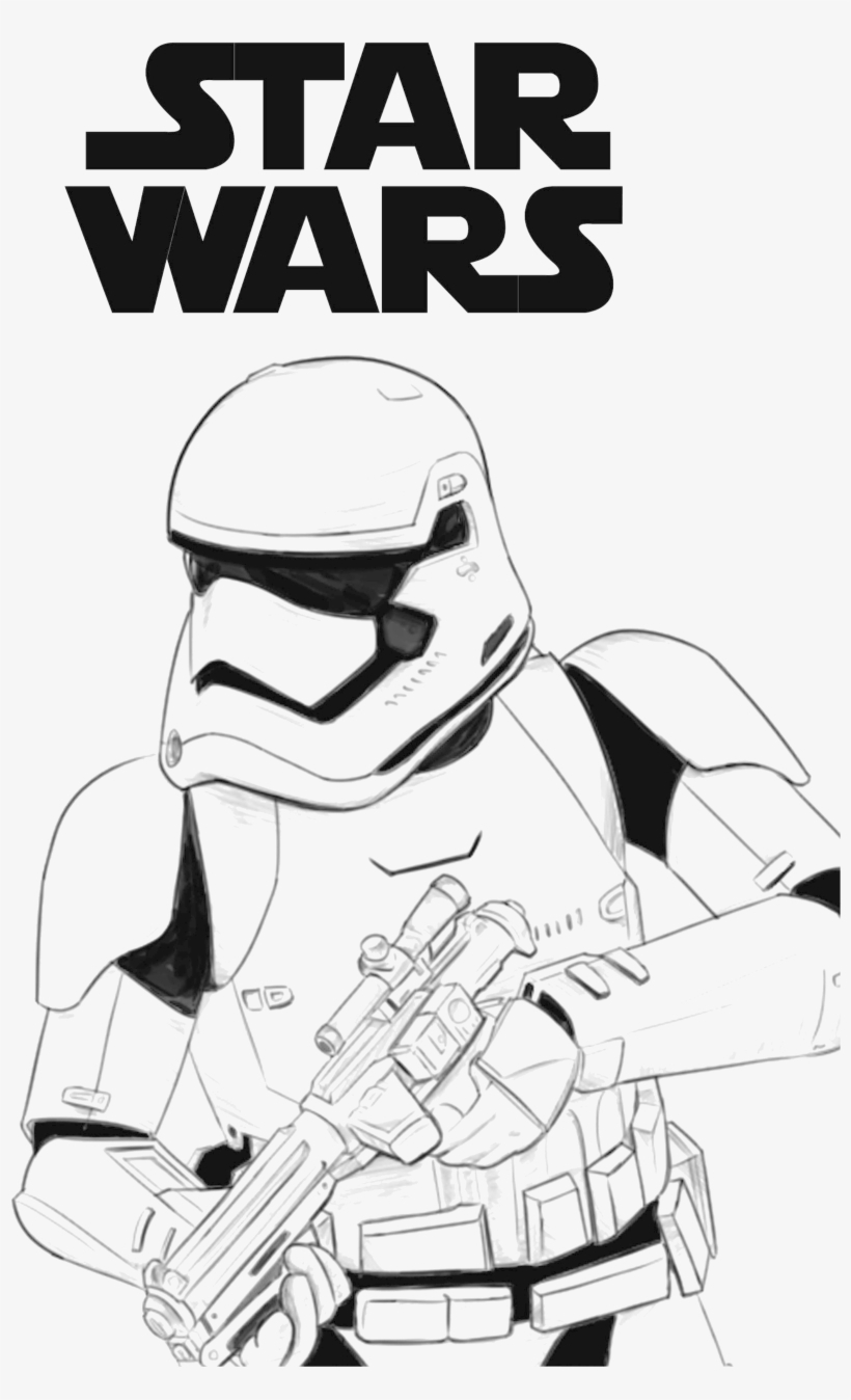 Stormtrooper Coloring Page Star Wars First Order Stormtrooper Coloring Page Free