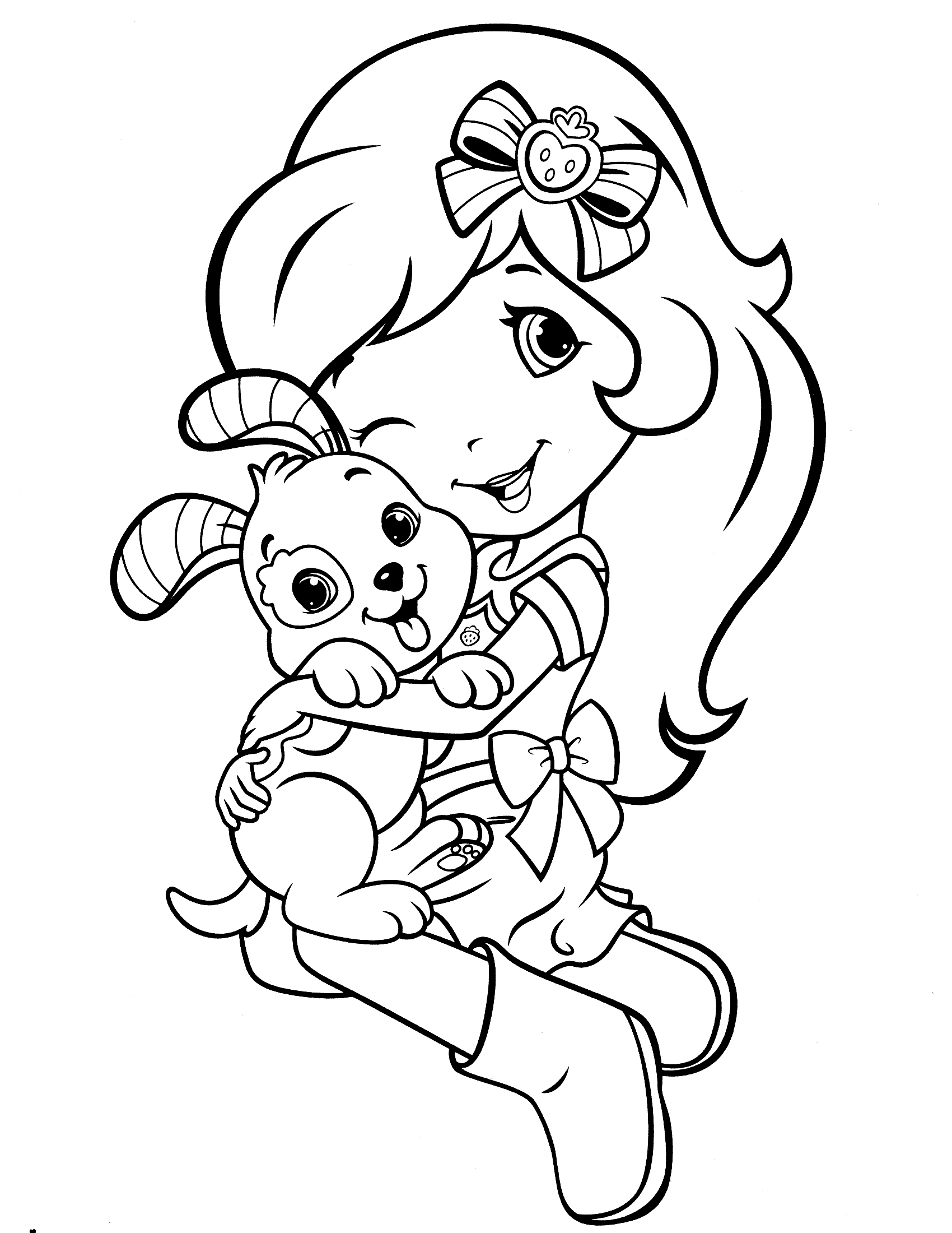 Strawberry Shortcake Coloring Pages Princess Strawberry Shortcake Coloring Pages At Getdrawings