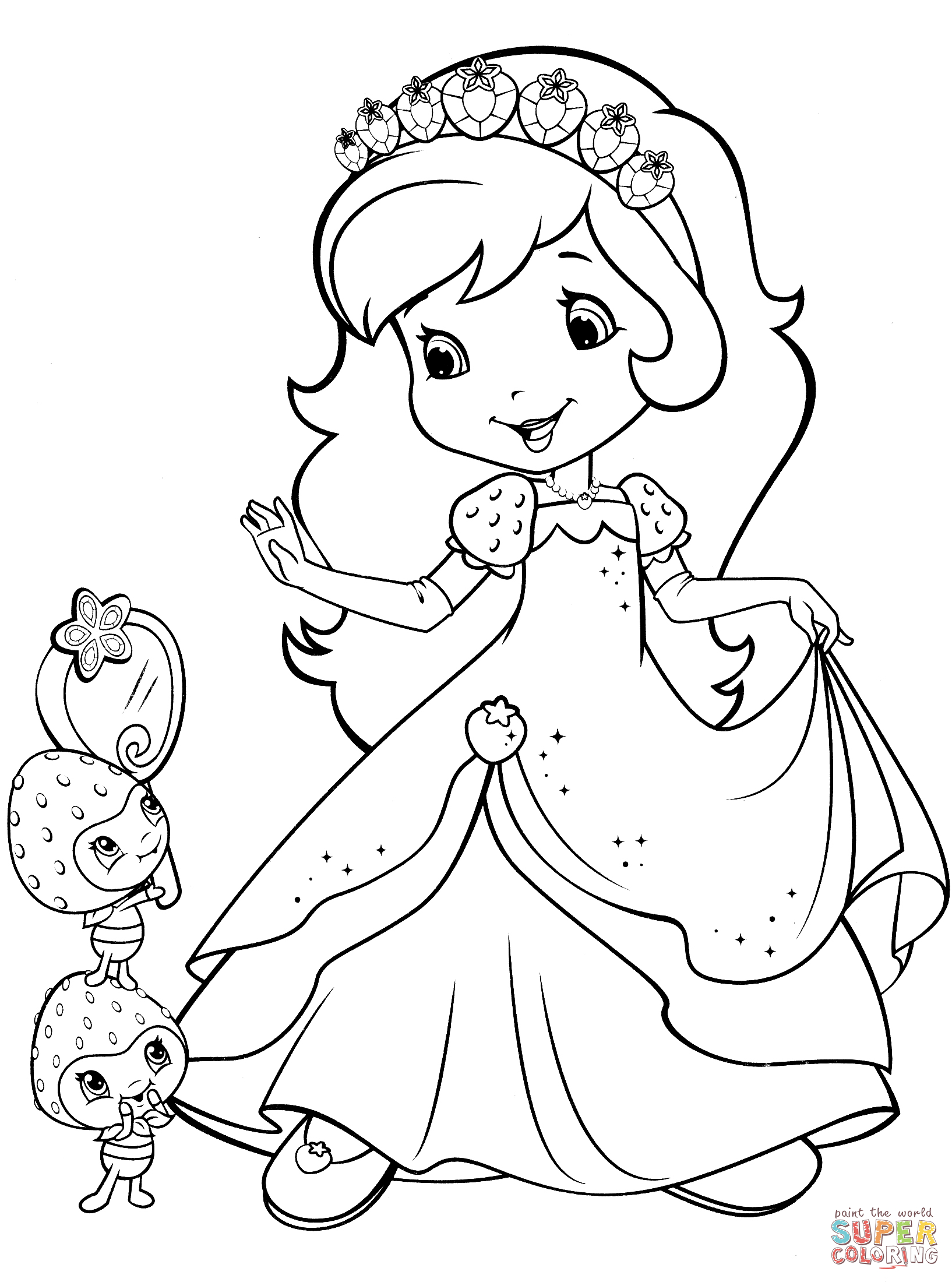 Strawberry Shortcake Coloring Pages Strawberry Shortcake Coloring Pages Free Coloring Pages
