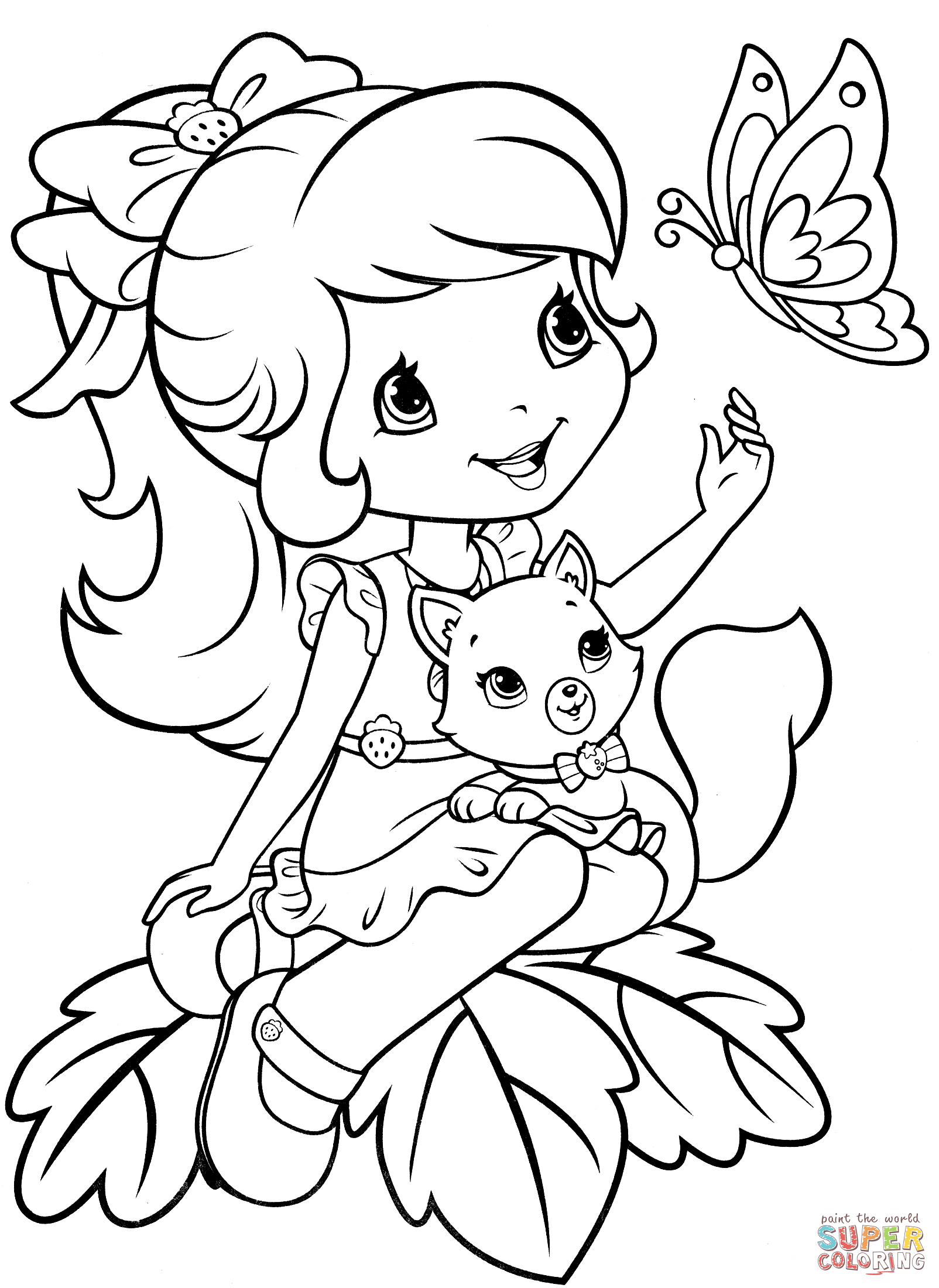 21+ Pretty Photo of Strawberry Shortcake Coloring Pages