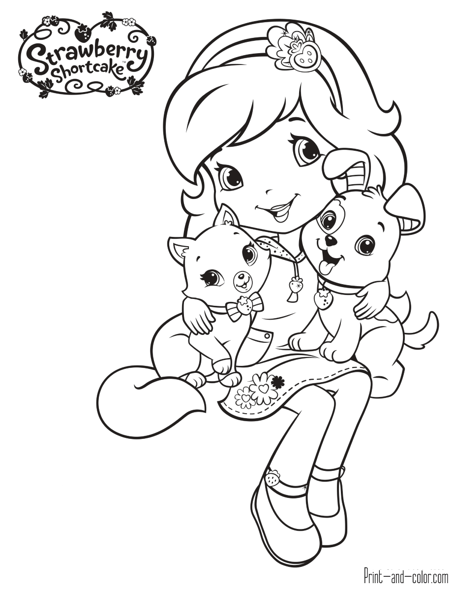 Strawberry Shortcake Coloring Pages Strawberry Shortcake Coloring Pages Print And Color