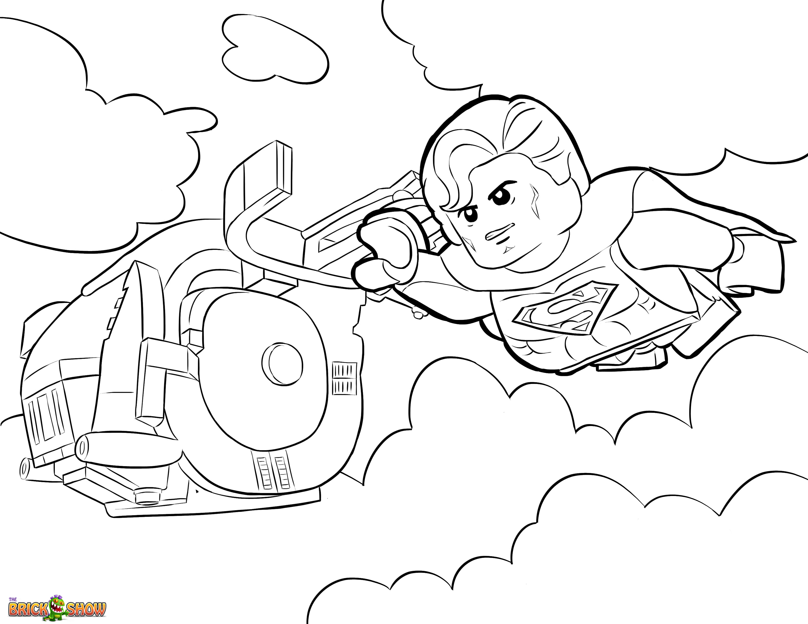 Superman Coloring Page Lego Superman Coloring Pages