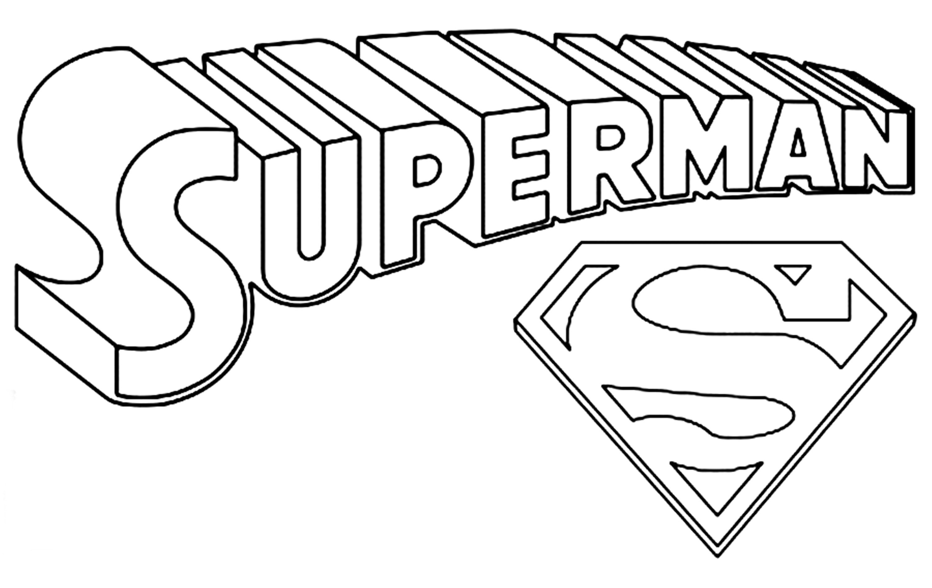 Superman Coloring Page On Superman Coloring Pages Coloring Pages For Children