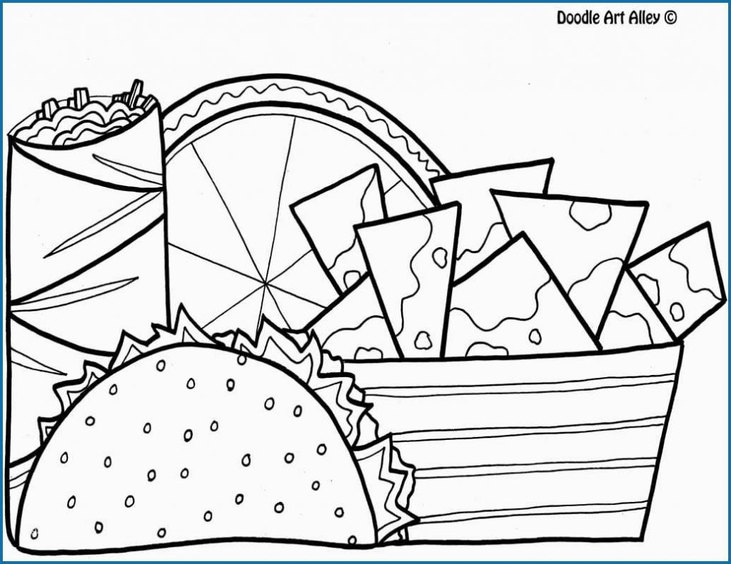 Wonderful Image of Taco Coloring Page