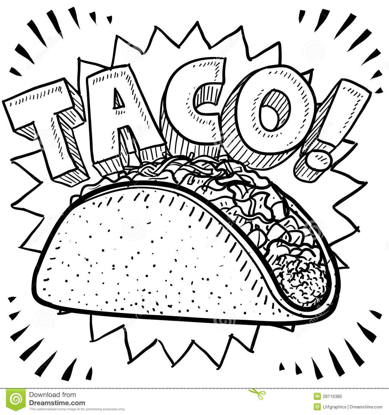 Taco Coloring Page Taco Coloring Page Arenda Stroy