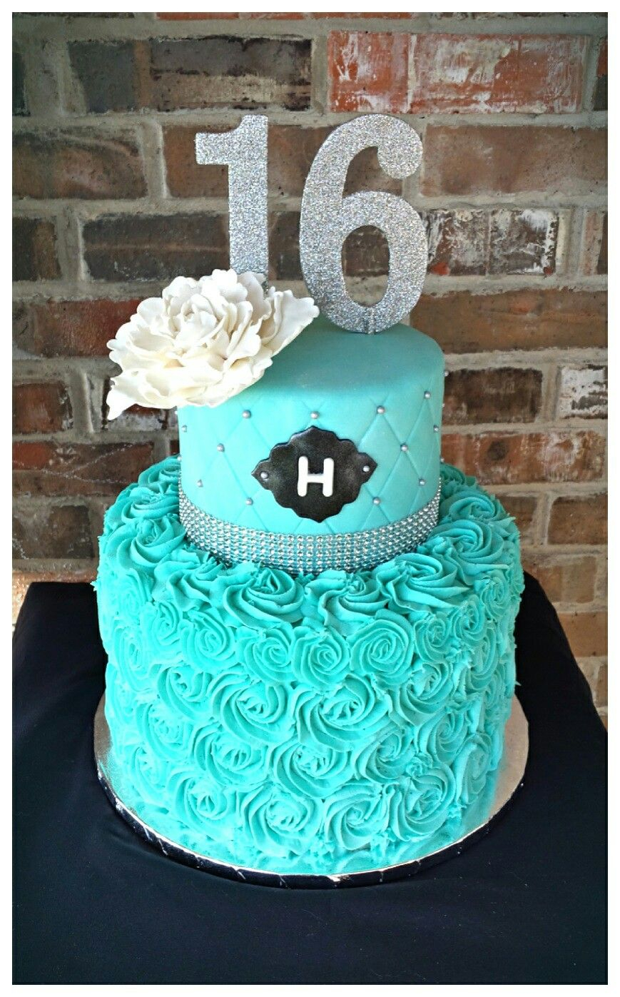 21+ Great Image of Teal Birthday Cakes
