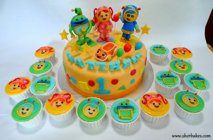 Team Umizoomi Birthday Cake Team Umizoomi Cake And Cupcakes Sherbakes