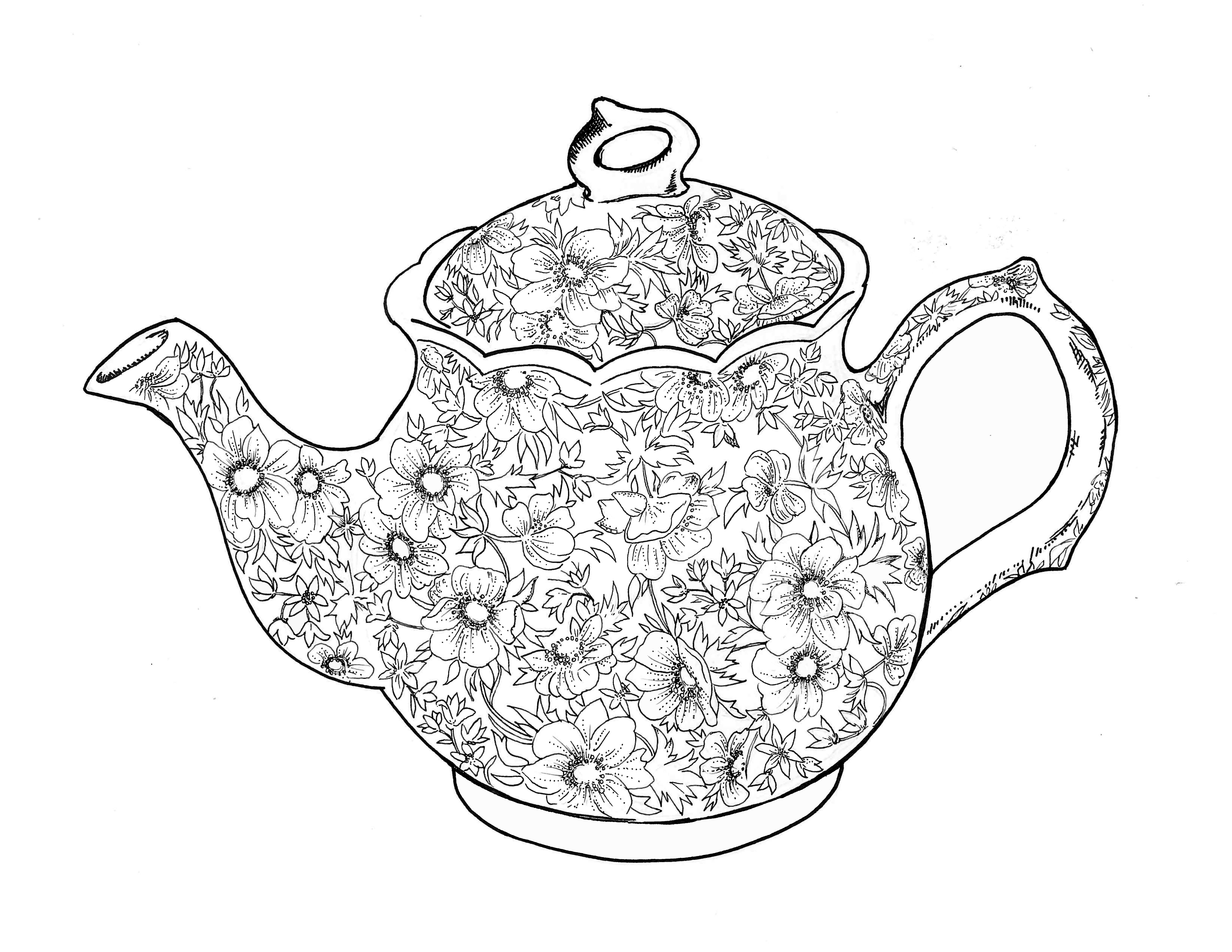 Teapot Coloring Page Free Teapot Coloring Book Download Free Clip Art Free Clip Art On