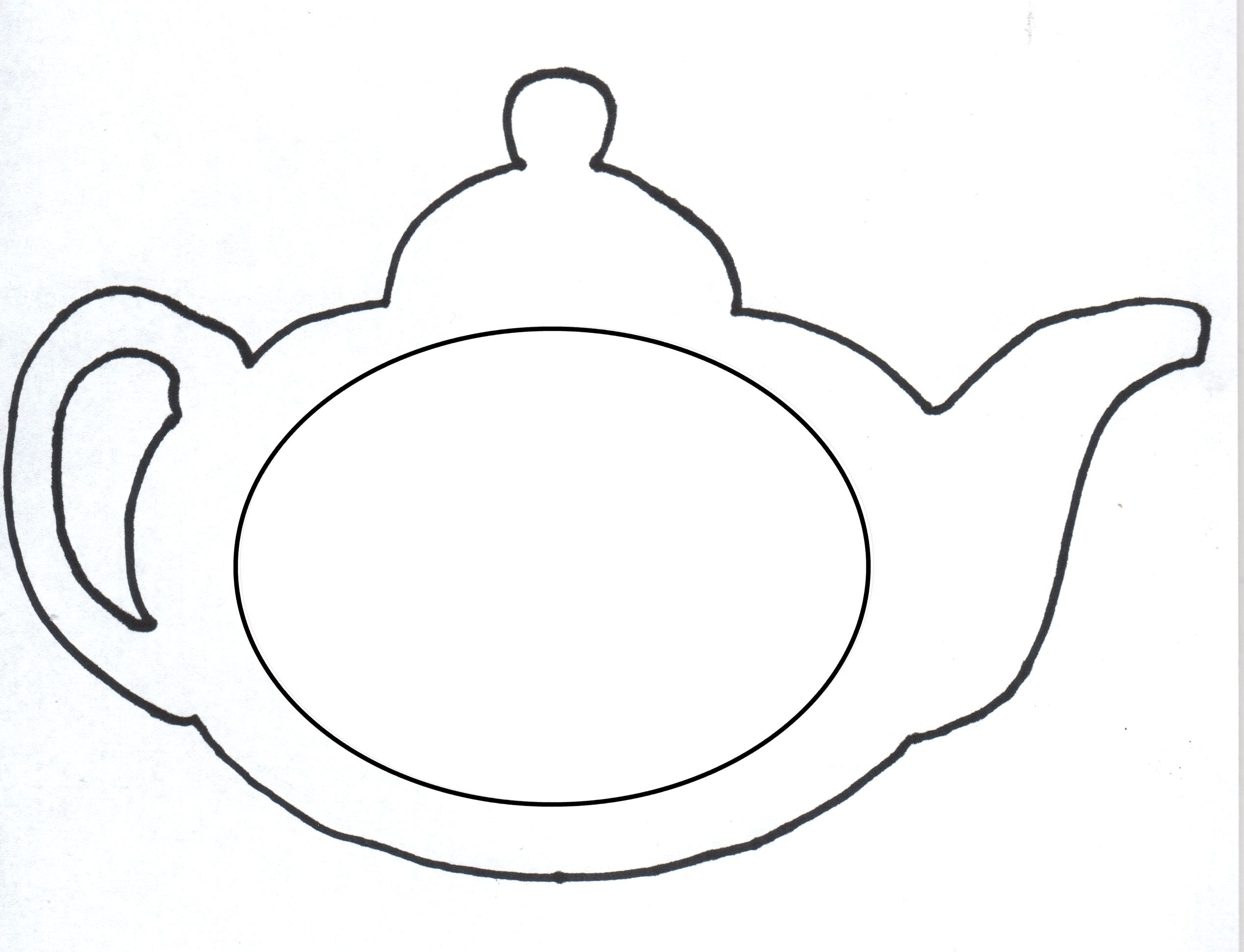 Best Photo of Teapot Coloring Page