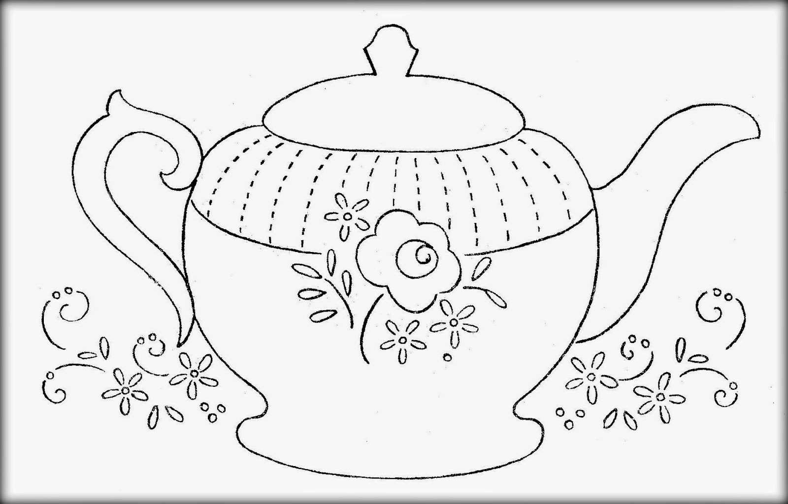 Teapot Coloring Page Printable Teapot Coloring Pages Coloring Home