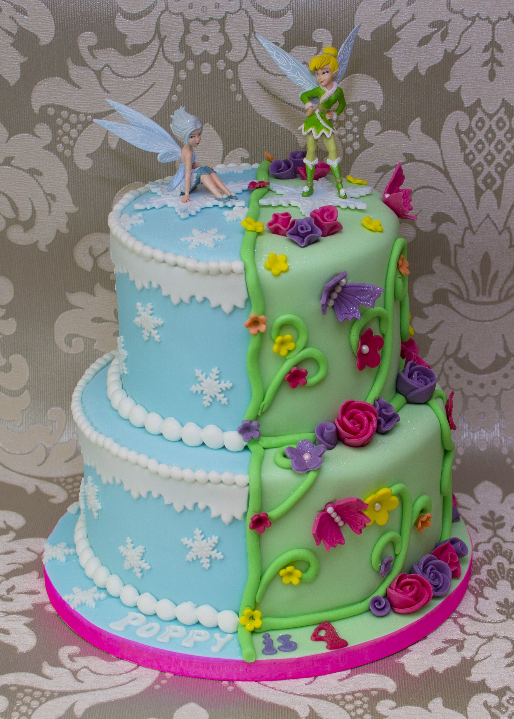 1760 X 2464 In 23 Wonderful Picture Of Tinkerbell Birthday Cake