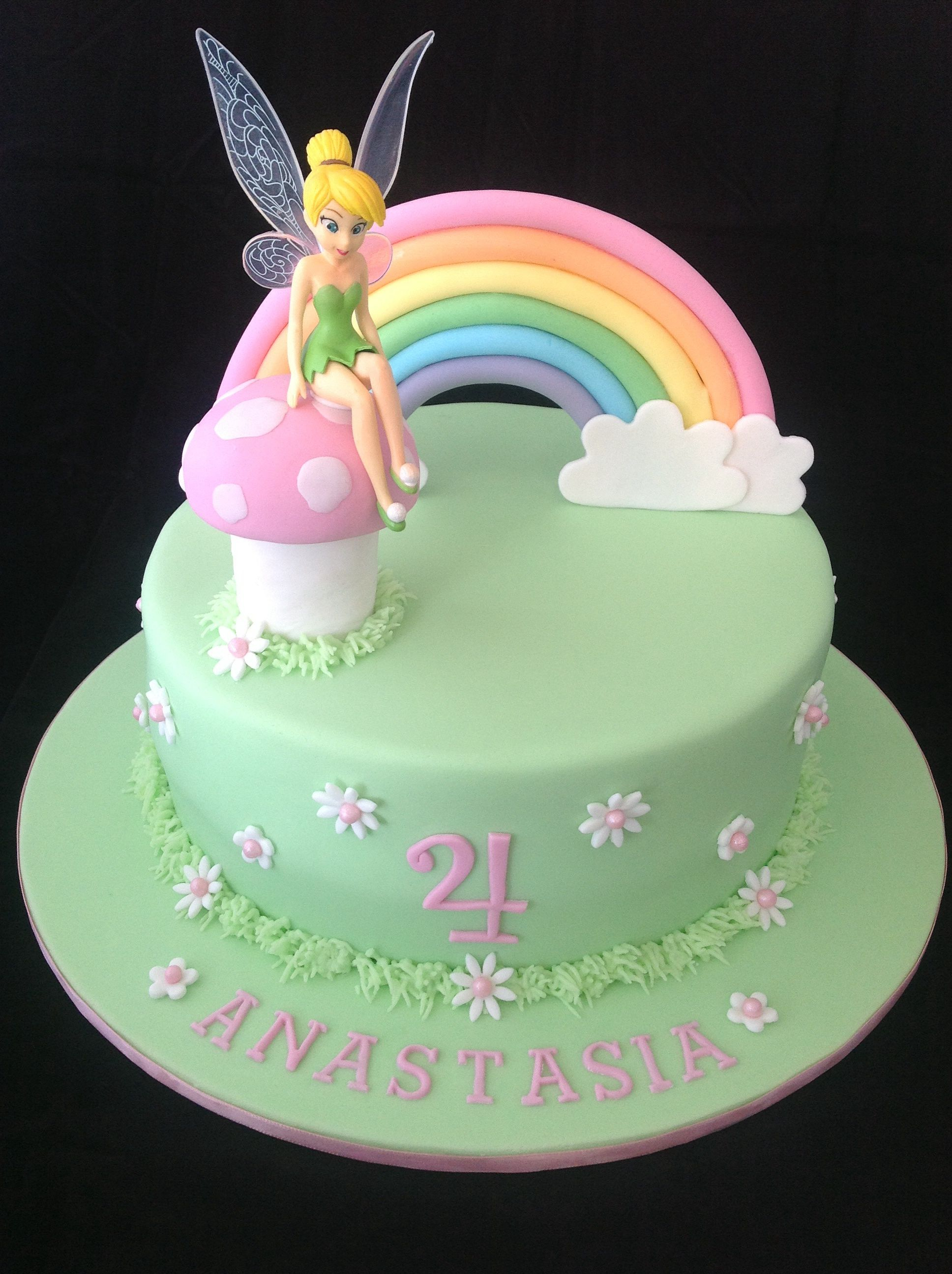 23+ Wonderful Picture of Tinkerbell Birthday Cake